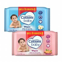 Cussons Baby Wipes Soft & Smooth / Mild & Gentle - 50'S