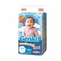 Nepia Genki M tape 64 pampers diapers