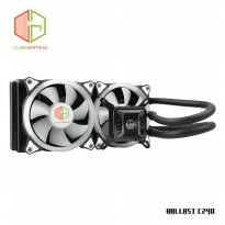CUBE GAMING KALLAST C240 - AIO Water Cooler 240mm Radiator-2X12cm PWM