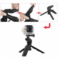 2 in 1 Portable Mini Folding Tripod for DSLR,GoPro,Xiaomi Yi