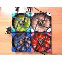 FAN CASING 12CM KEEPRO WITH LED / FAN CASE 12 CM