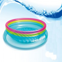 Intex - Kolam Bermain Anak Jump-O-Lene Transparent Ring Bounce 48267 Blue