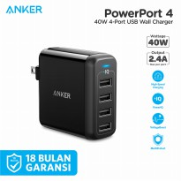 Wall Charger Anker PowerPort 4 40W - A2142