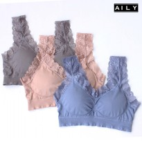 Aily AL13 Seamless Bra Knit With Lace