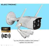 Ip Camera Wireless CCTV Wifi Outdoor Dual Antena Full HD