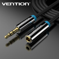 [1M - B06 Black] Vention Kabel Audio Aux 3.5mm Male to Female