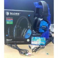 Headset Gaming Sades SA 722 / Sades Dpower / Sades 722 BLUE Only