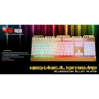 Keyboard Gaming Mechanical Warwolf V6 RGB