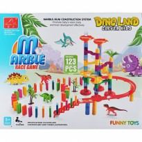 Mainan Edukasi Marble Race Game Dino Land 123 pcs