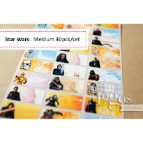 Star Wars Sticker MEDIUM Name Label Stiker nama. Darth Vader Skywalker
