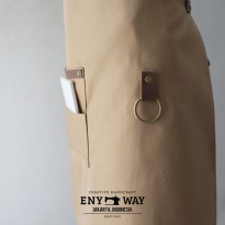 Half Apron Canvas and Synthetic Leather (Celemek Pingga