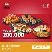 Takon Sushi Story Value Voucher 200k