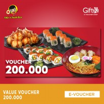 Tako N Sushi Box Value Voucher 200k