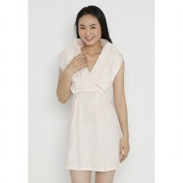 Mobile Power Ladies Mini Dress Stripe - Peach OK40012