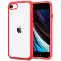 Case iPhone SE (2020) / 8 / 7 Spigen Ultra Hybrid 2 - Red