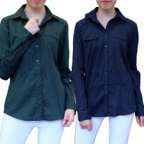[TOM TAILOR] BRANDED POLKADOT SHIRT FOR WOMAN/KEMEJA DOT WANITA