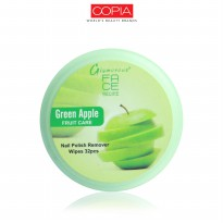 FACE RECIPE NAIL POLISH REMOVER WIPES GREEN APPLE