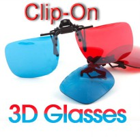 Kacamata 3D Polycarbonate Clip On Red/Cyan