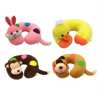 Grow Bantal Leher Kepala Boneka Binatang ( Cushion Neck Stuffed Animal Duck, Dog, Monkey, Rabbit )