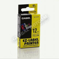 EZ LABEL TAPE CASIO 12MM BLACK INK YELLOW