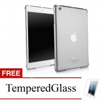Case for Apple iPad 2,3,4 - Abu-abu + Gratis Tempered Glass - Ultra Thin Soft Case