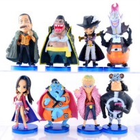 [globalbuy] One Piece Seven Warlords of Sea Pvc Action Figures Toy Model 8pcs Set One Piec/3558743