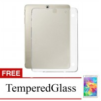 Case for Samsung Galaxy Tab 3V / T110 - Clear + Gratis Tempered Glass - Ultra Thin Soft Case