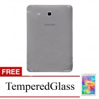 Case for Samsung Galaxy Tab 3V / T110 - Abu-abu + Gratis Tempered Glass - Ultra Thin Soft Case