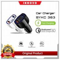 (pop up aia ) INNOVO - SY-KC363 CAR CHARGER ADAPTOR QUICK CHARGE 3.0 + PD