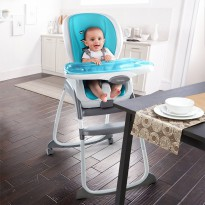 Bright Starts Ingenuity Trio 3 in 1 SmartClean High Chair – Aqua
