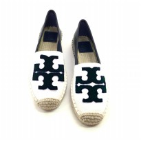 Tory Burch Ines Fil Coupe Espradille- Black White