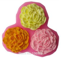 [globalbuy] 2016 New Nicole Mother's Day Flower Carnation Silicone Chocolate Mold Cake Too/2964645