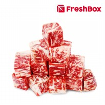 Daging Striploin MB 9 Cube 500 gr FreshBox