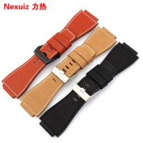 [globalbuy] Convex mouth leather strap to replace Bell Ross watchbands Male BR01 34*24mm b/2458365