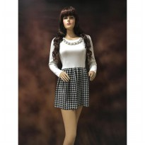 Dress Putih Slim Fit Midi Baju Korean Import Murah (BL D 36A)