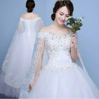 Wedding dress sabrina ekor