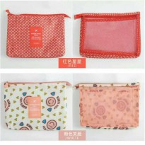 Tas Kosmetik Cosmetic Pouch Toiletry Travel Organizer Bag