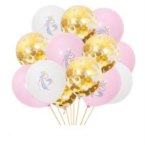 Balloon Set Pegasus Sequin Confetti Latex 10