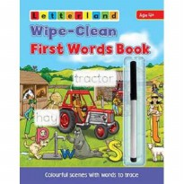[Xivan] Letterland Wipe-Clean First Words Book - Colourful scenes with words to trace