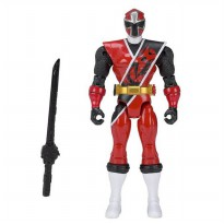 Bandai Power Rangers Ninja Steel Red Ranger Action Hero Figure 13 cm - Merah/Hitam