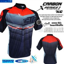 Pakaian Sepeda Jersey sepeda STR Carbon XC Cooltech Waffle