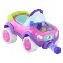 Bright Starts Ride On Having a Ball Pop & Roll Roadster - Pink