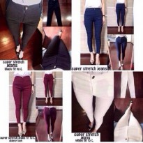 (Recommended) [super stretch jeans RO] celana wanita legging impor chaina var color