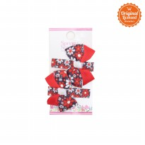 Character Land - Evelyn Hairclip (pairs) Red - Black