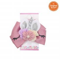 Character Land - Emily Unicorn Hairclip (each) Dusty Pink