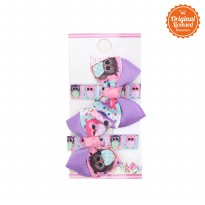 Character Land - Evelyn Hairclip (pairs) Purple - Pink