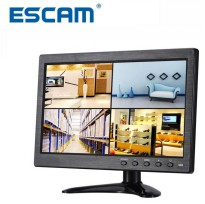 ESCAM T10 LCD Monitor CCTV 10 Inch - Black