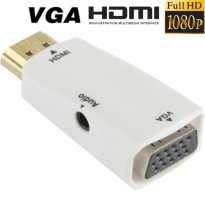 Adapter HDMI ke VGA & AUX 1080P - White