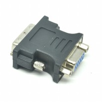 Adapter VGA Female ke DVI Male - Black