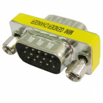 VGA 15 Pin Male to Male Gender Changer Adapter